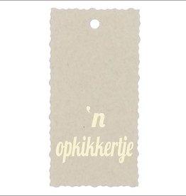 Kadokaartje  'n  opkikkertje - Natural Paper Gold