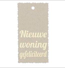 """Kadokaartje """" Nieuwe woning gefeliciteerd""""  - Natural Paper Gold"""