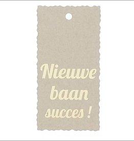 """Kadokaartje """"Nieuwe baan succes!""""  - Natural Paper Gold"""