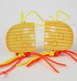 Dutch cheese charm - 20*20 mm - 50 pieces