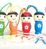 Anhänger Lucky dolls - Sortiment von 5 Farben - 50 Stück