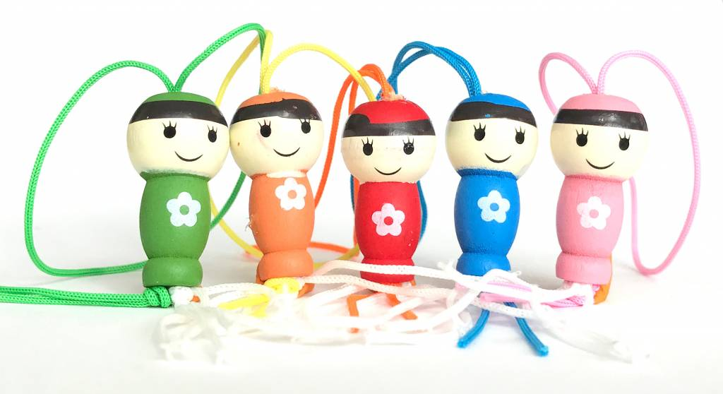 Lucky charm Lucky dolls - assortment of 5 colours  - 50 pieces