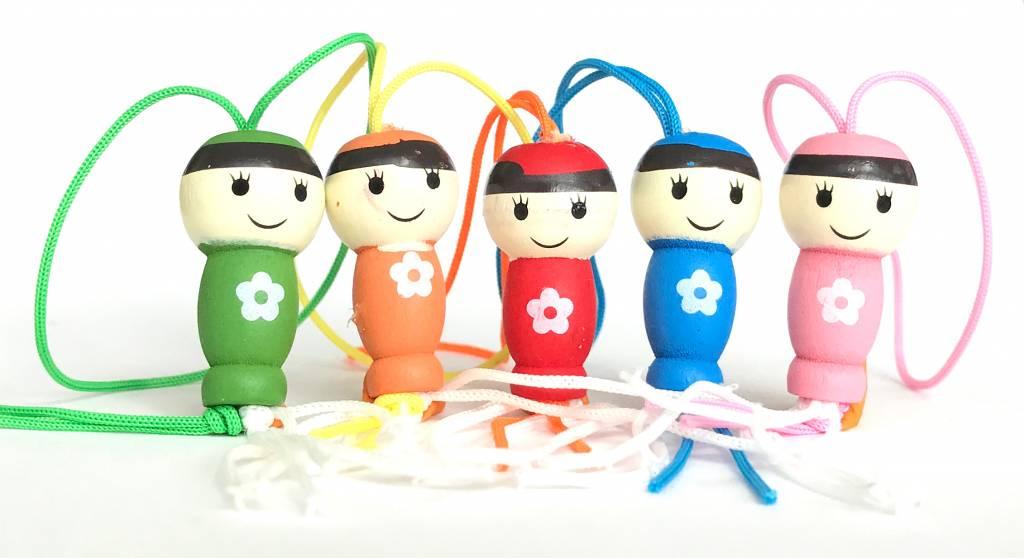Lucky dolls gelukspoppetjes - assorti 5 kleuren - 50 stuks