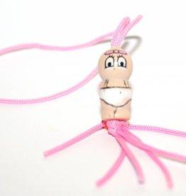 Pendentif bébé fille - rose