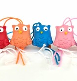Owl charm -  19mm - 50 pieces - assorted colours