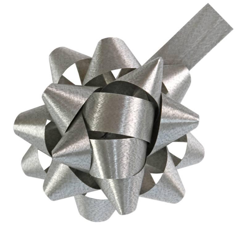 """Mini - bow """"America"""" - matt Silber  - 50mm - 250 Stück"""