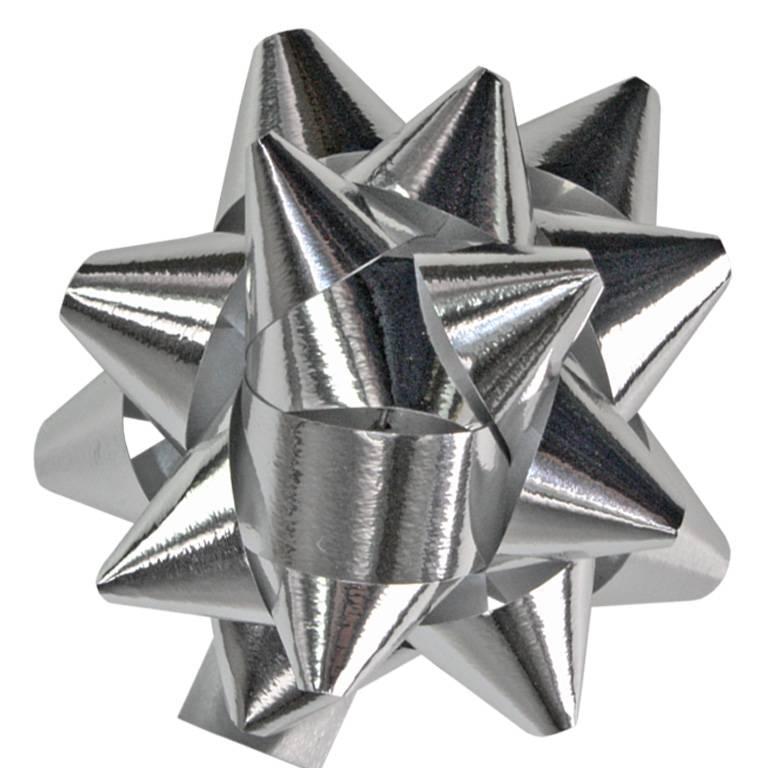 """Mini - bow """"Mexico"""" - glänzendes Silber  - 50mm - 250 Stück"""