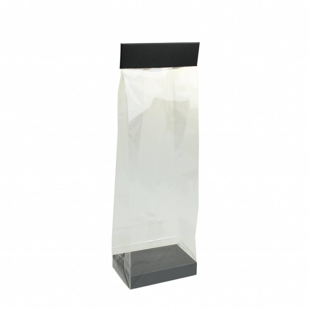 Elysée Tüten - für Blockboden Beutel - Matt Schwarz - 150 Stück