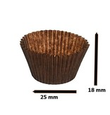 Candy cups Nr 4 brown -  25 * 17 - 59  mm -1000 pieces