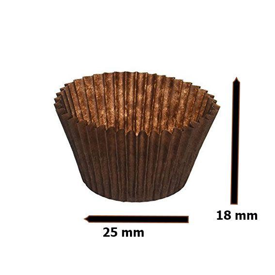 Pralinenkapseln Nr 4 Braun -  25 * 17 - 59  mm - 1000 Stück