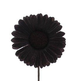 Flor Germini marrón oscuro