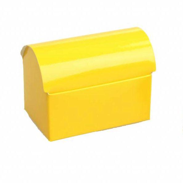 Schatzkiste  - glänzend Gelb - 25 Stück