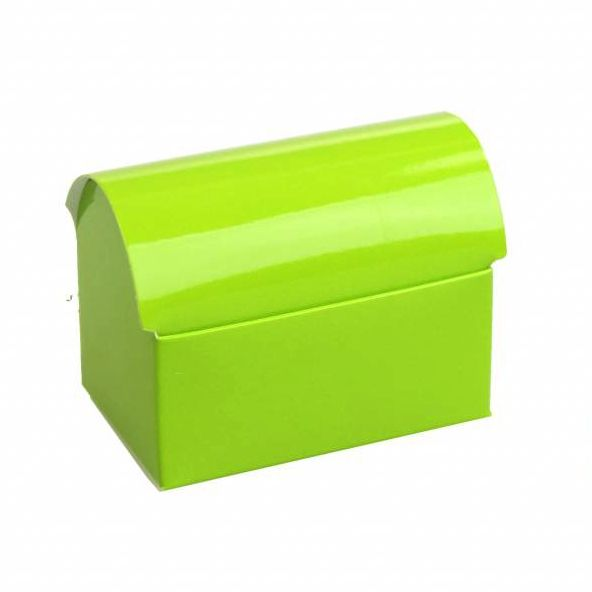 Schatkistje  - glanzend groen -  25 stuks