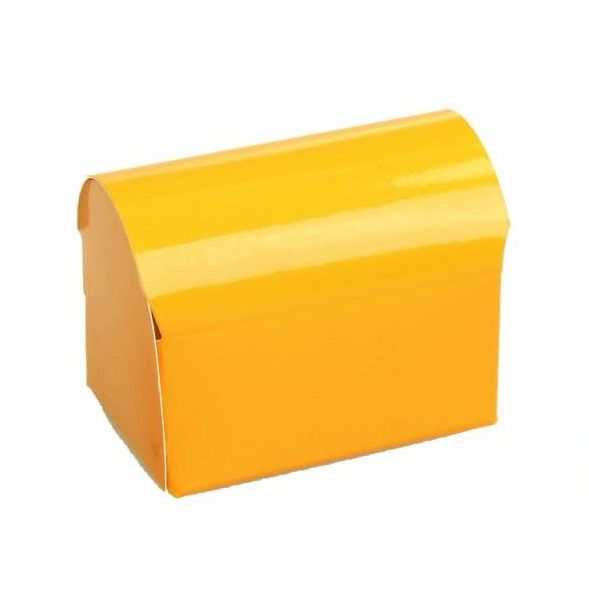 Schatkistje  - glanzend oranje -  25 stuks