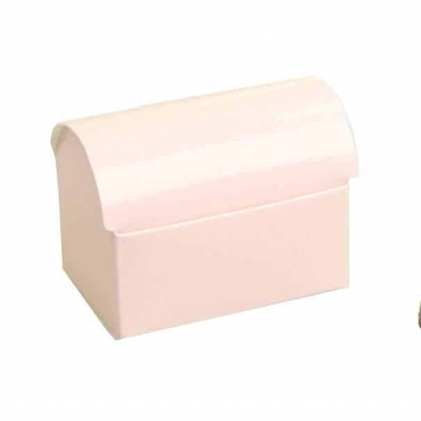 Schatzkiste  - glänzend Hellrosa - 25 Stück