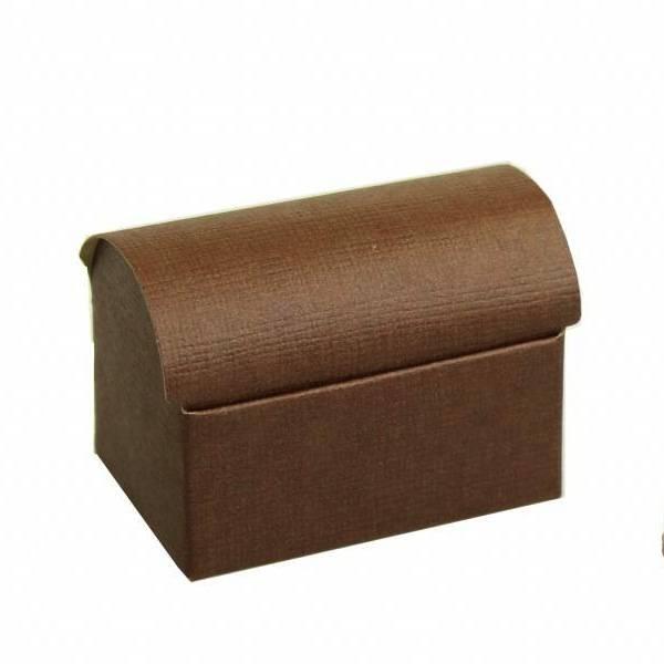 Coffre au trésor   reliëf - brun foncé - 10 pièces