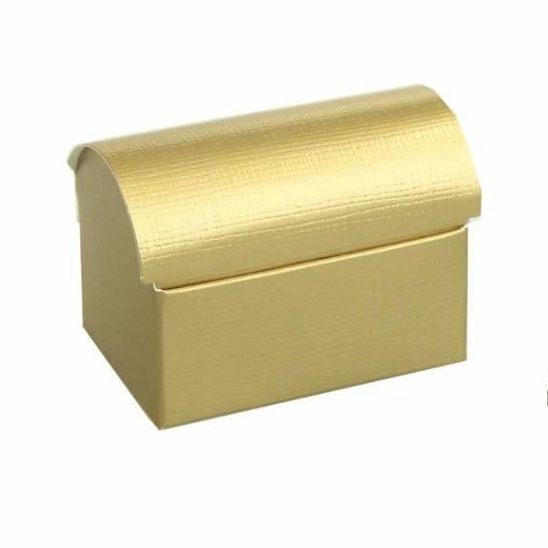 Schatkistje reliëf - goud -  10 stuks