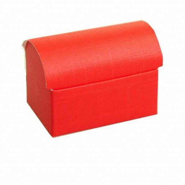 Schatzkiste  reliëf - Rot -  10 Stück