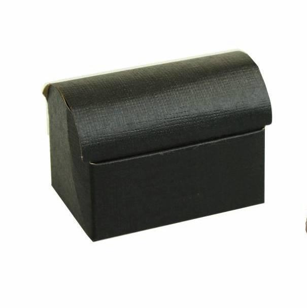 Schatkistje reliëf - zwart - 10 stuks