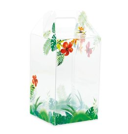 Transparent Easter egg box Tropicale