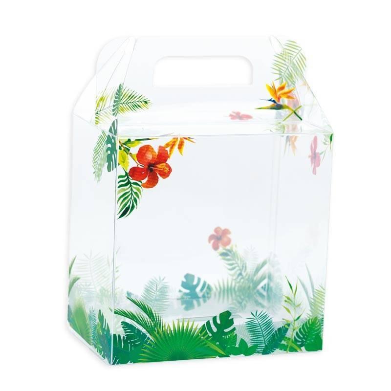 Tropicale Transparent Osterei Schachtel