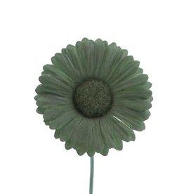 Flor Germini verde ahumado