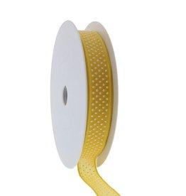 """""""Puff Dotty""""  wired ribbon  - yellow"""