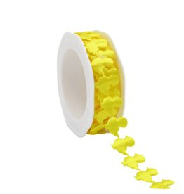 Punched  Egg Ribbon - yellow Chicken
