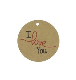 "Craft paper tags "" I love You"""