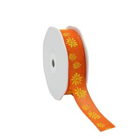 "Naturel""Spring Flowers""Ribbon - Orange"