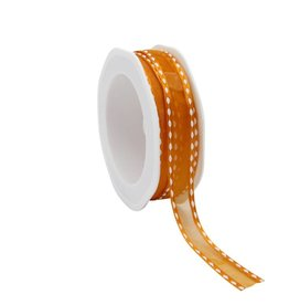 Stitchy Organza satin edge Band - Orange
