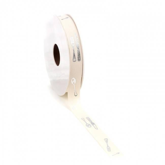 Couvert ribbon - silver