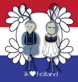 Sticker Dutch lucky dolls 5 cm