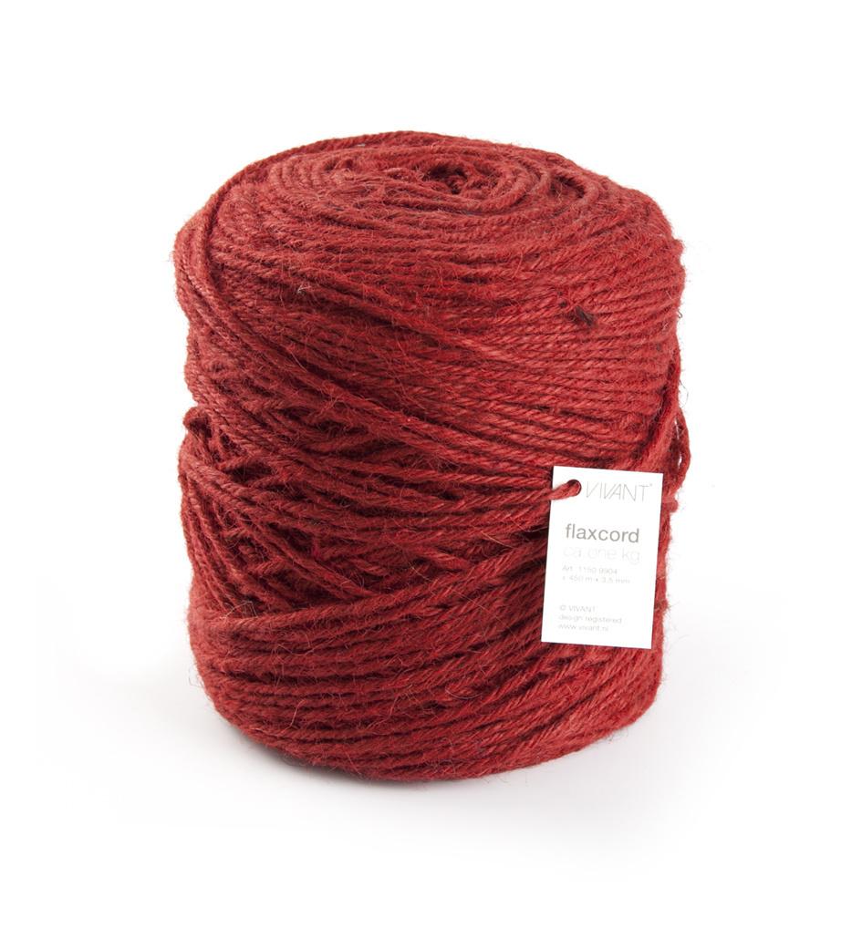 Flax cord - Ø 3,5 mm - 470 Meter - Rot