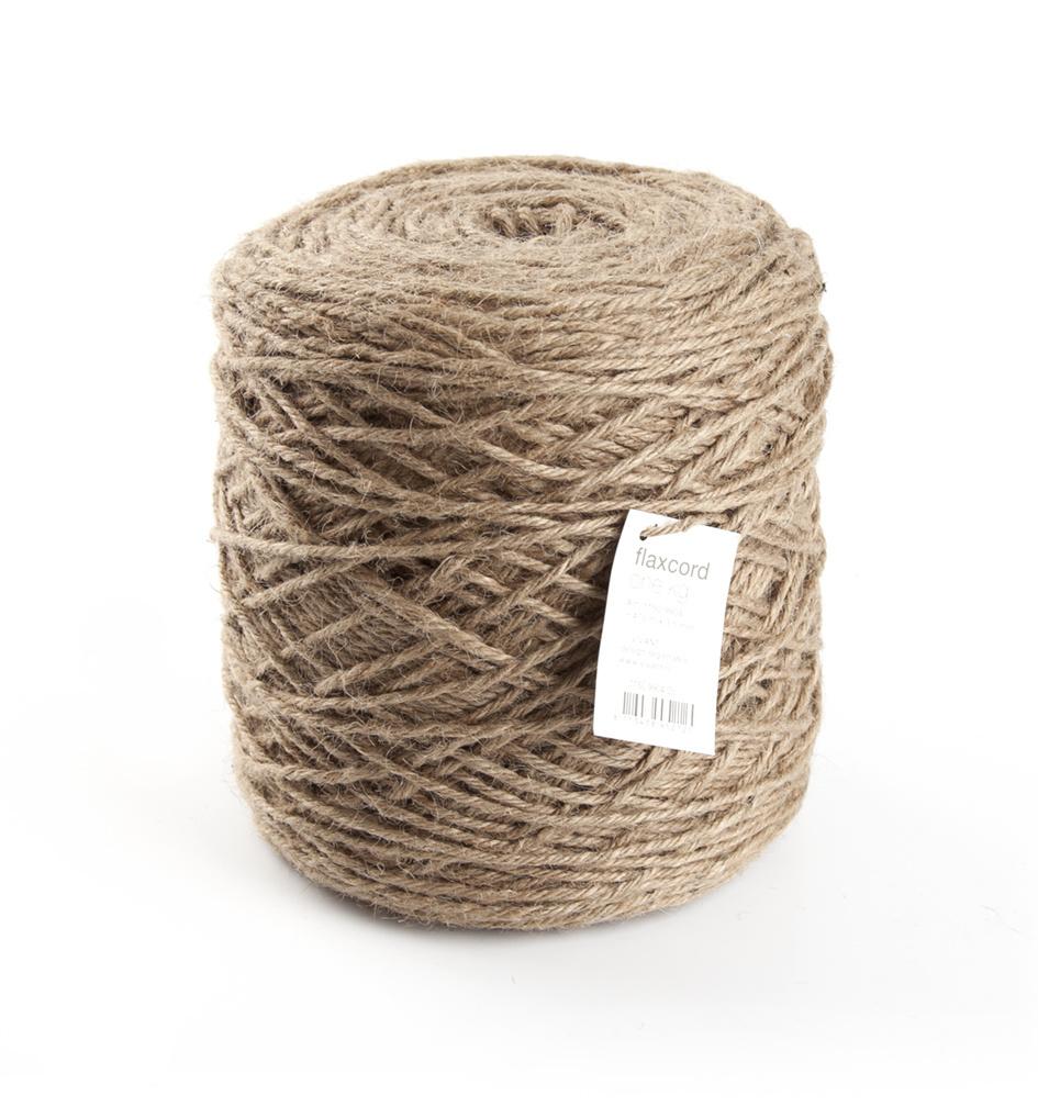 Flax cord - Ø 3,5 mm - 470 Meter - Beige