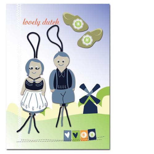 Glückliche  Bäuerin und Bäuerin  Karte - 100*70 mm
