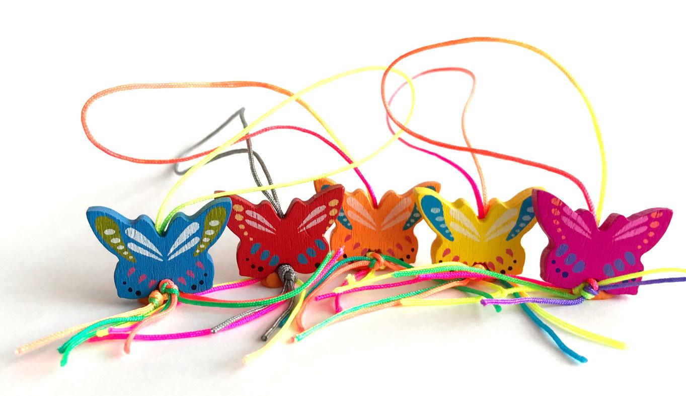 Glücksanhänger Schmetterlinge - 20mm - 50 Stück