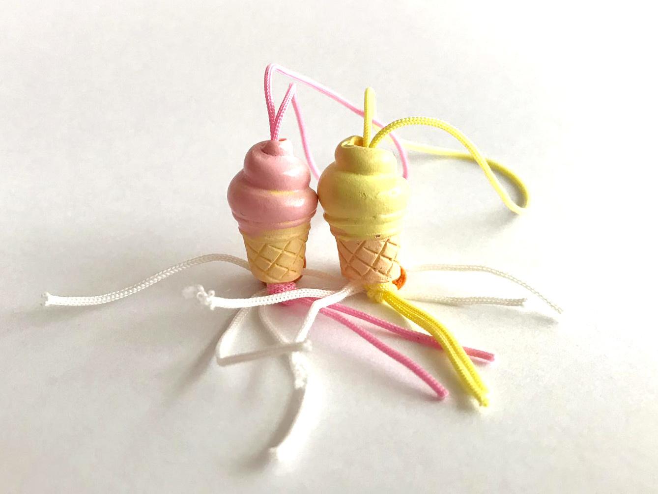 Lucky pendant ice creams - 20 mm - 50 pieces