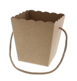 Conical basket with rope Avana Kraft - 130*130*145mm - 10 pieces