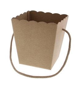Conical basket with rope Avana Kraft - 10*10 cm bottom