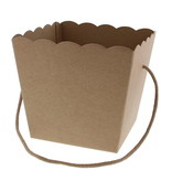 Conical basket with rope Avana Kraft - 150*150*180mm - 10 pieces
