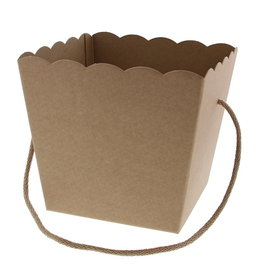 Conical basket with rope Avana Kraft -15*15  cm bottom