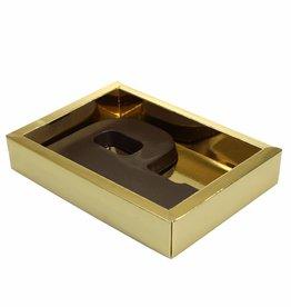 Cajas oro con tapa transparente
