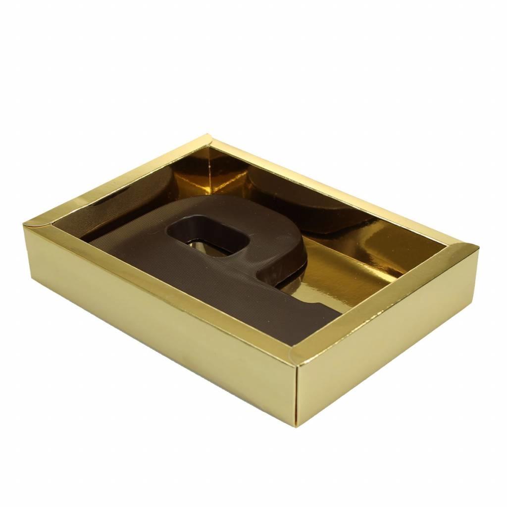Boîte or avec couvercle transparant