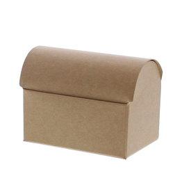 Mini treasure chest for 2 chocolates - Kraft