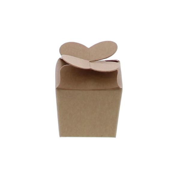Mini ballotin voor 1 bonbon - 30*30*30 mm - Kraft - 100 stuks