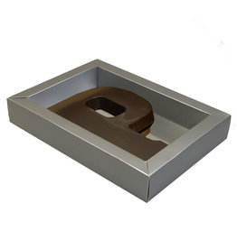 Matt Silver box with transparant lid