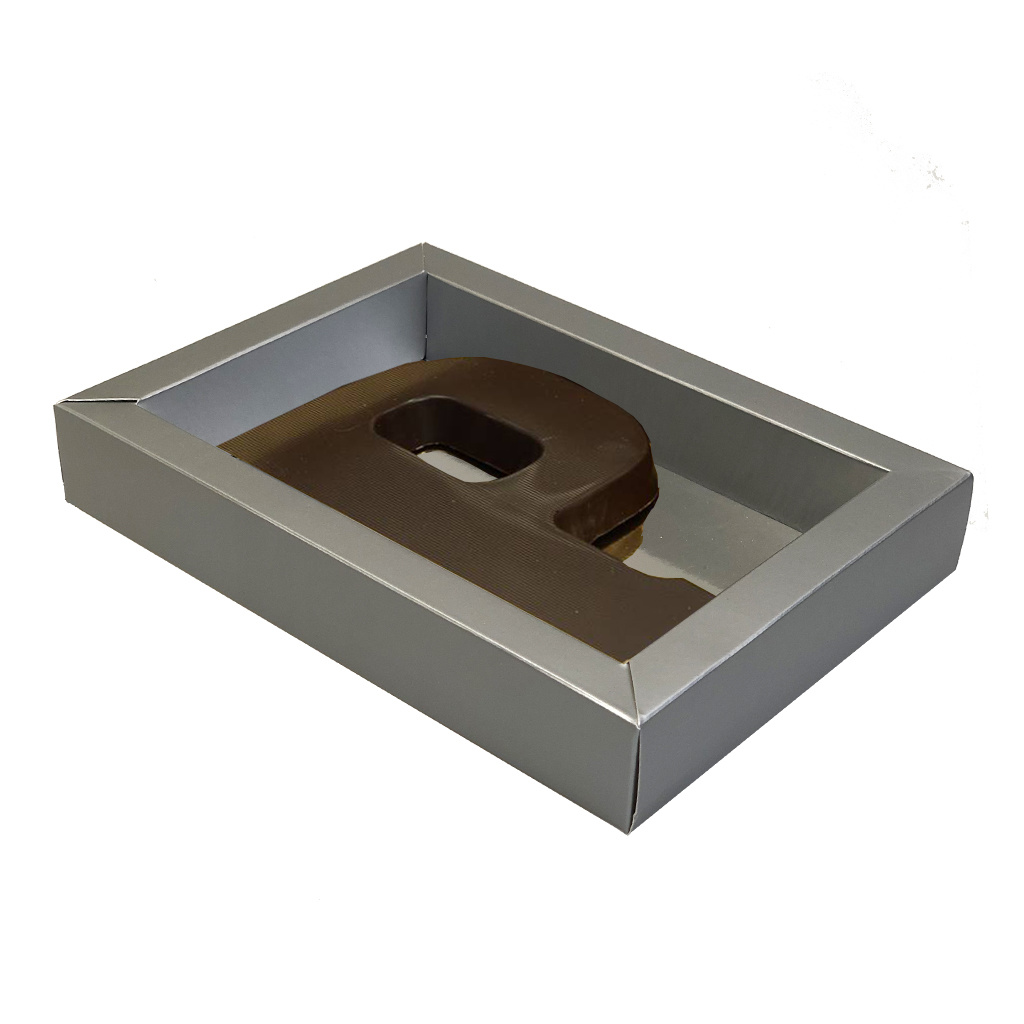 Mat Silver box with transparant lid