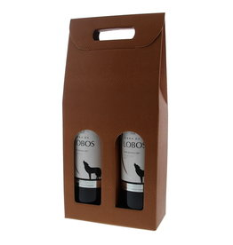 Box for  2 bottles  - terra cotta