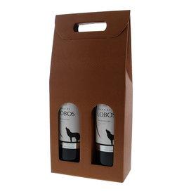 Doos voor  2 flessen - Terra cotta